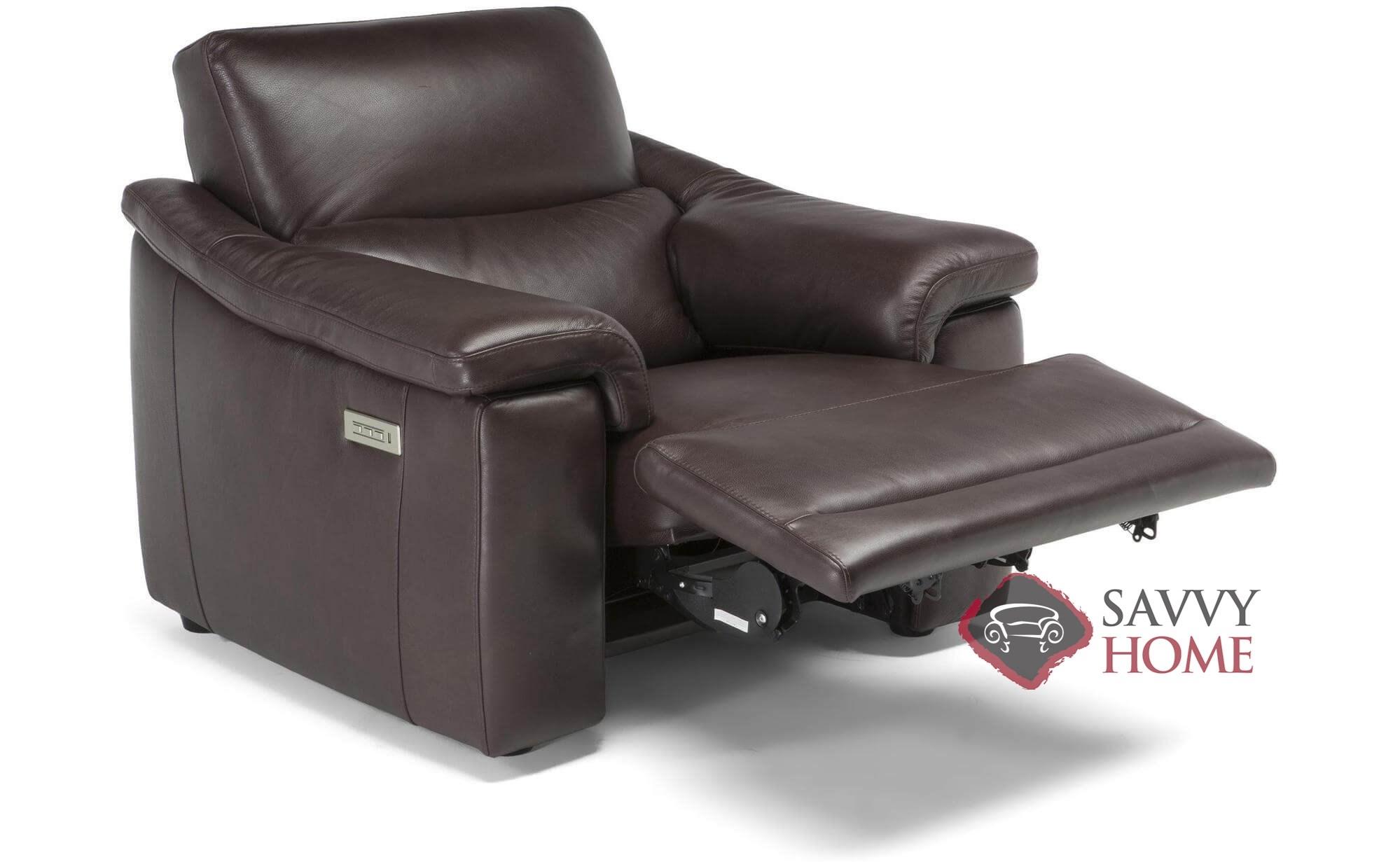 Brama C070 N54 Leather Reclining Chair By Natuzzi