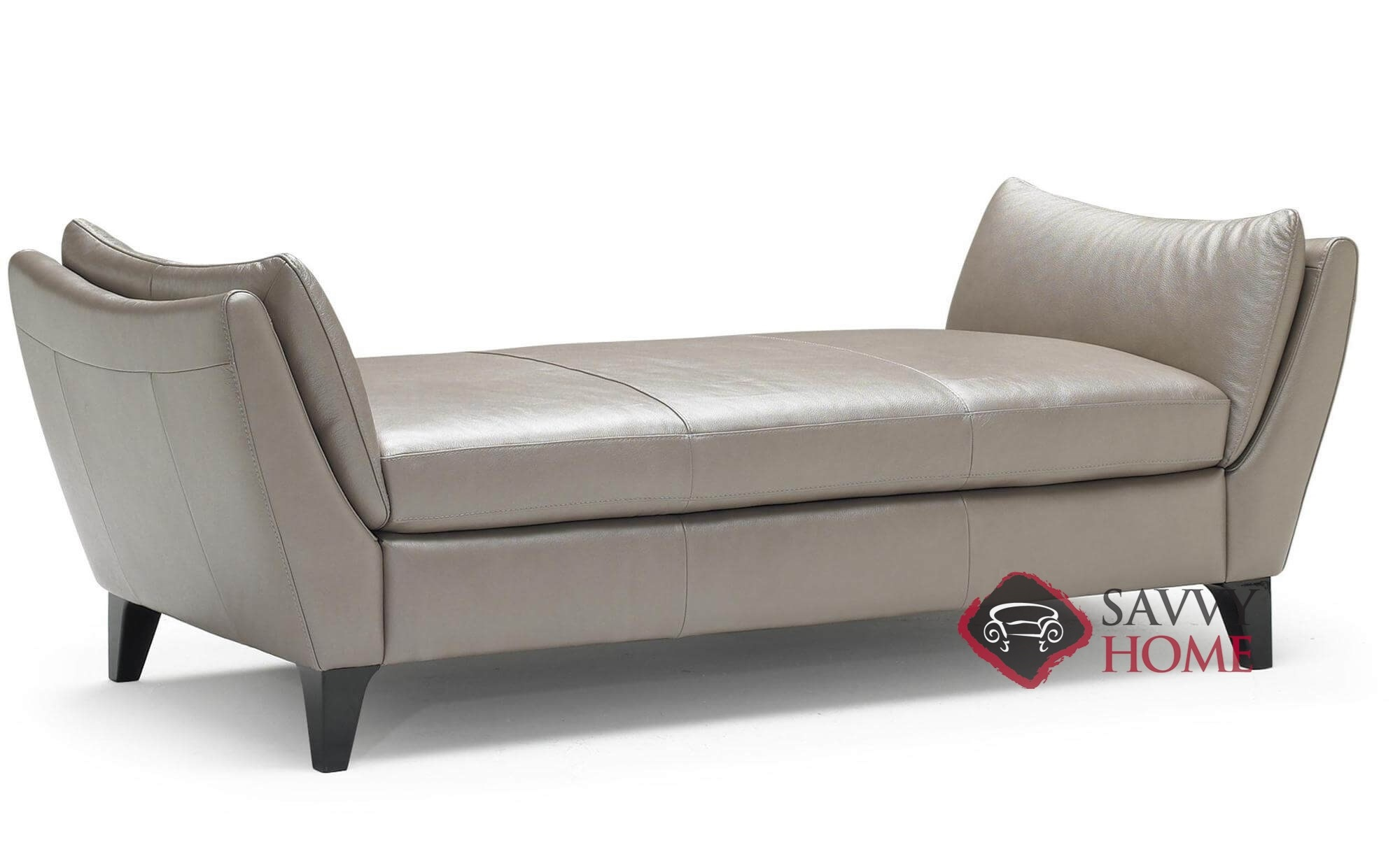 - Edoardo (A486) Leather Stationary Chaise Lounge By Natuzzi Is