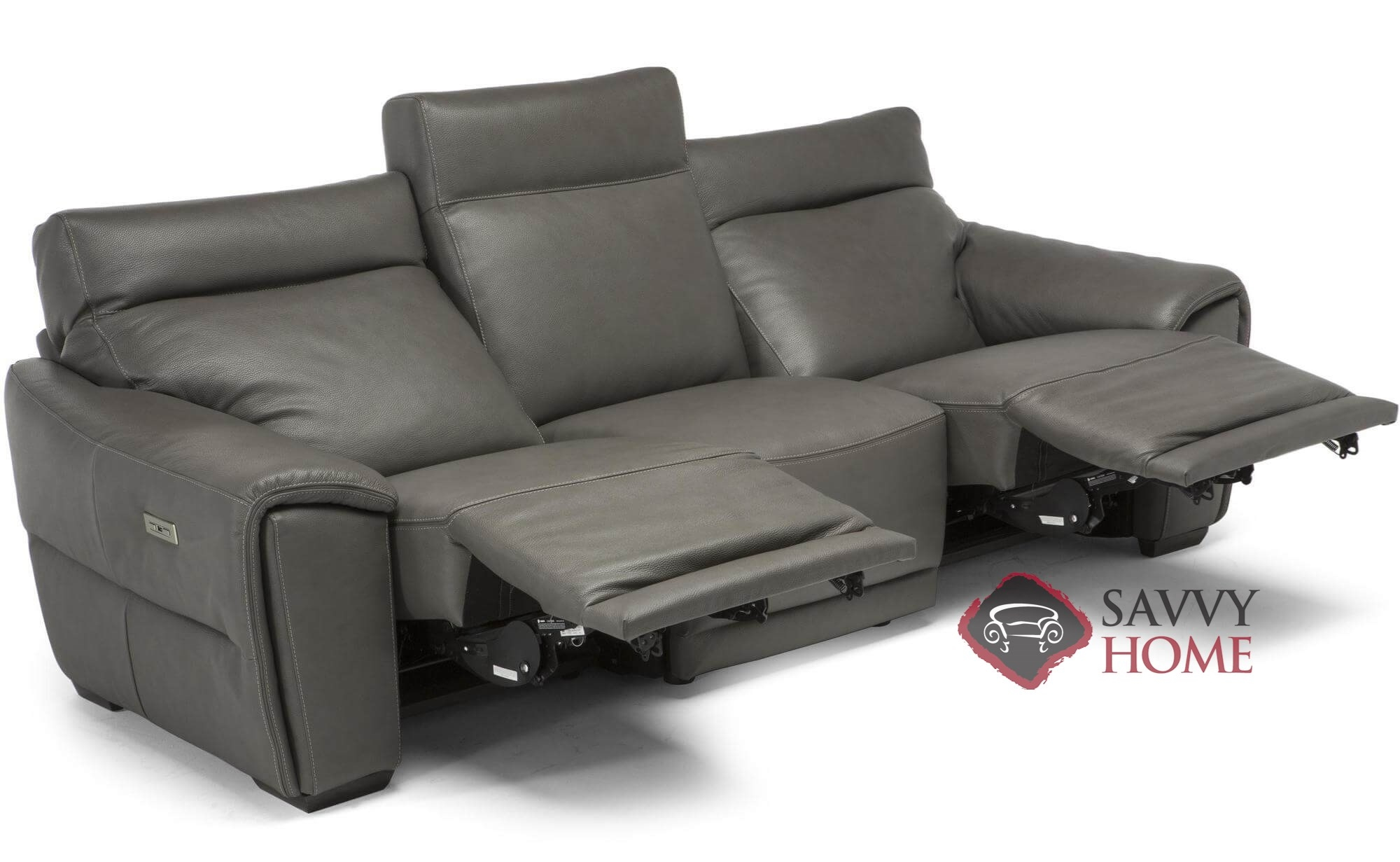 Rispetto (C048) Leather Reclining Sofa by Natuzzi is Fully ...