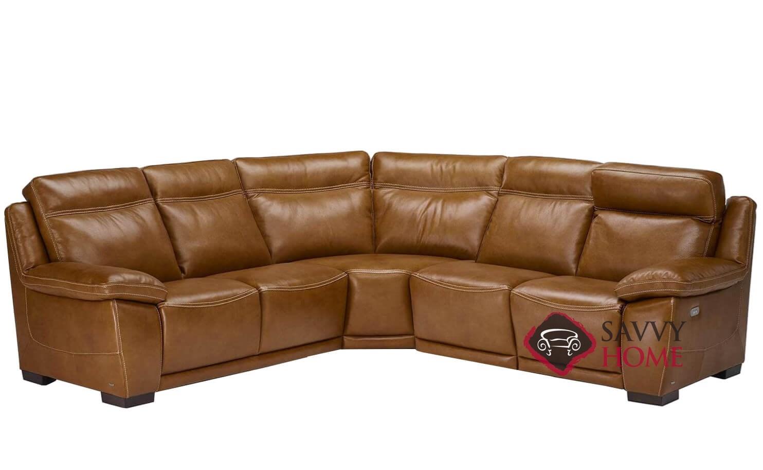 Ottimista (B875-182/029/183) Power Reclining Leather True Sectional Sofa by  Natuzzi
