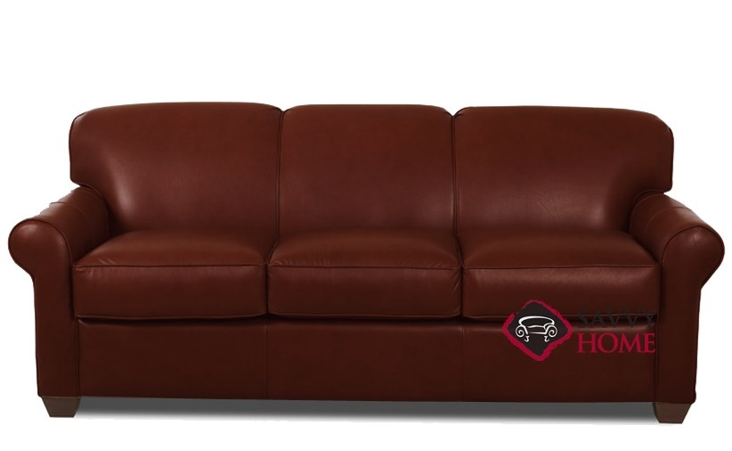 Quick Ship Calgary Leather Sleeper Sofas Queen In