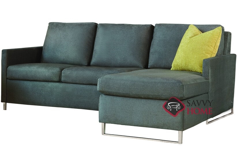 Brandt High Leg Queen Plus with Chaise Sectional Leather Comfort Sleeper by  American Leather--Generation VIII