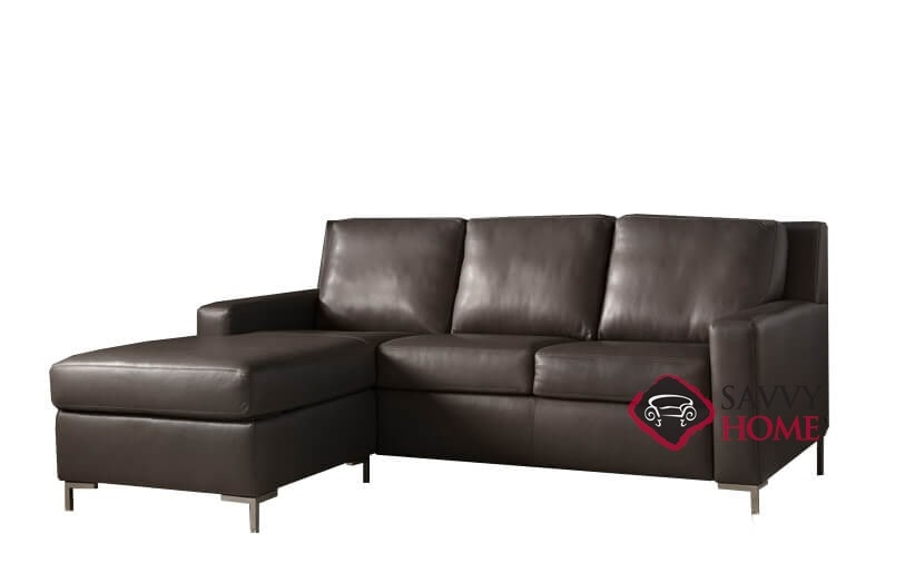 Surprising Bryson High Leg Queen Plus With Chaise Sectional Leather Comfort Sleeper By American Leather Generation Viii Lamtechconsult Wood Chair Design Ideas Lamtechconsultcom