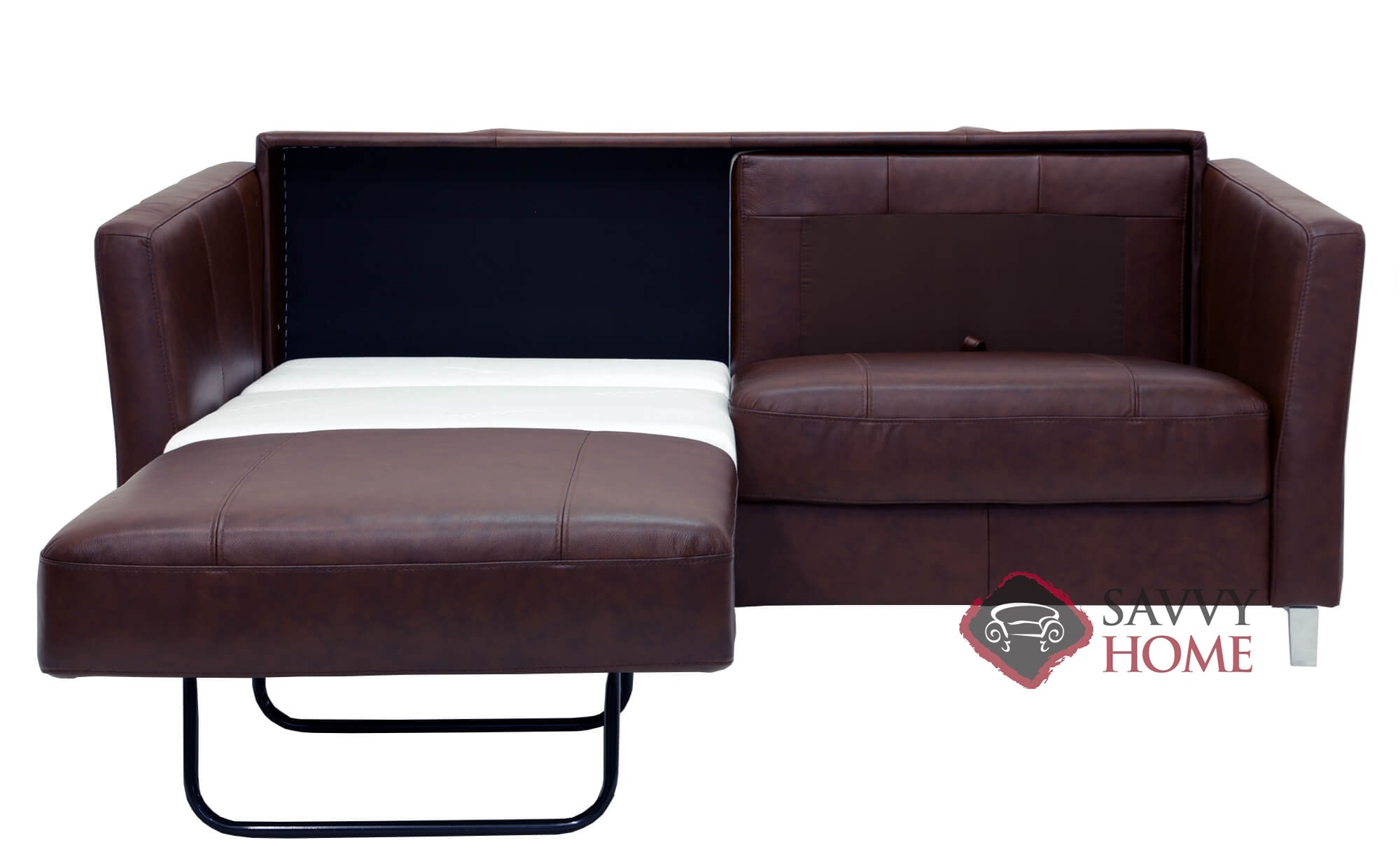 Monika Queen Leather Sofa Bed by Luonto