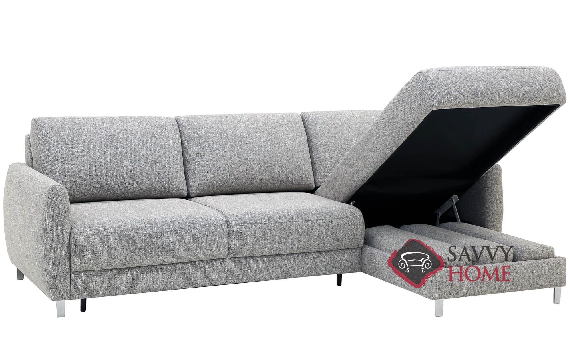 Quick-Ship Delta Fabric Sleeper Sofas Chaise Sectional in by Luonto ...