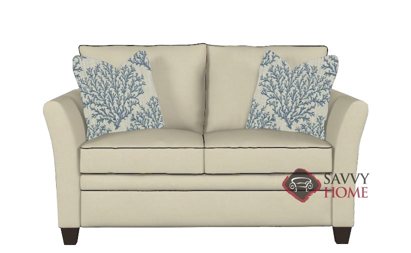 Quick Ship Murano Fabric Sleeper Sofas Twin In Oakley Ivory By Savvy With Fast Shipping Savvyhome