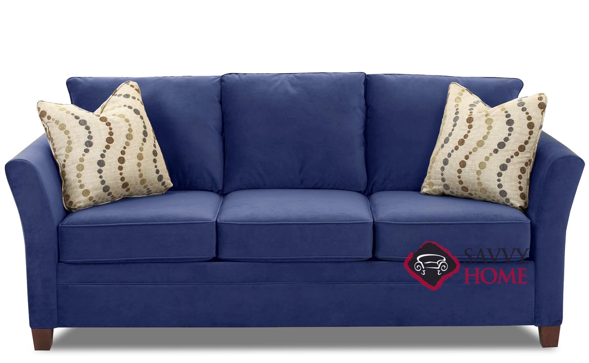 Picture of: Quick Ship Murano Fabric Sleeper Sofas Queen In Belsire Navy By Savvy With Fast Shipping Savvyhomestore Com